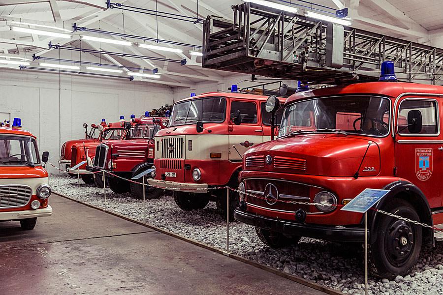 Alte Feuerwehren im Oldtimer Museum in Binz OT Prora auf Rügen